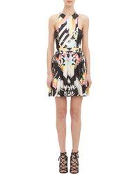 Balmain Abstract Jersey Sleeveless Dress - Lyst