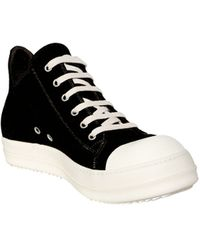 Rick Owens Leather Sneakers - Lyst