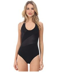 Marc By Marc Jacobs Solid Marc Color Block Racer Back One Piece - Lyst