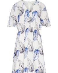 Reiss Pollie Printed Dress blue - Lyst