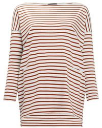 HATCH Red Breton Stripe Top - Lyst