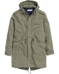 H&M | Parka With A Waistcoat | Lyst