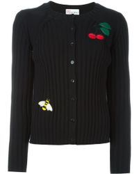 Red Valentino   Bee And Cherry Appliqué Cardigan   Lyst