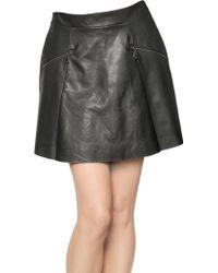 David Lerner Stretch Faux Leather Skirt - Lyst