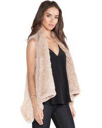 H Brand Indie Rabbit Fur Vest - Lyst