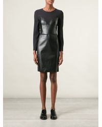 Viktor & Rolf Fitted Panelled Dress - Lyst