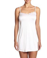 Hanro Capri Lace-Trim Body Dress - Lyst