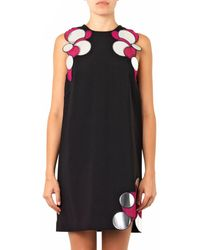 Christopher Kane Black Moleculeembellished Dress - Lyst
