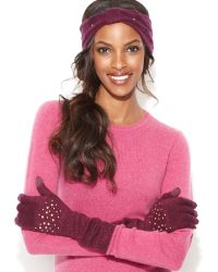 Laundry by Shelli Segal - Pearlescent Bead Embellished Knit Headband - Lyst
