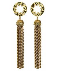 House Of Harlow Sunburst Tassel Earrings - Lyst