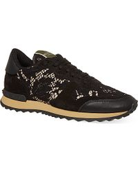 Valentino Lace Trainers - Lyst