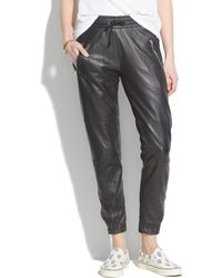 Madewell Laerreg Leather Zip Pants - Lyst
