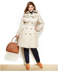 London Fog Plus Size Belted Trench Coat - Lyst