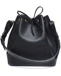 Louis Vuitton Pre-Owned Black Epi Leather Petit Noe Bag - Lyst
