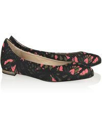 McQ by Alexander McQueen Printed Canvas Pointtoe Flats - Lyst