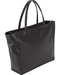 Barneys New York Black Topzip Tote - Lyst