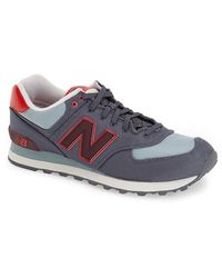 New Balance | gray 574 Winter Harbor Suede Low-Top Sneakers | Lyst
