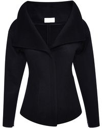 Antonio Berardi Black Double Coating Wool Coat - Lyst