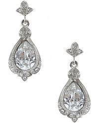 Nina - Ani Pear Crystal Drop Earrings - Lyst