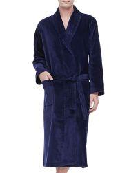 Derek Rose Terry Cloth Robe - Lyst