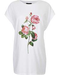 Topshop Womens Maternity Rose Motif Tee  White - Lyst