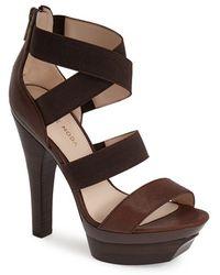 Pelle Moda 'Ceira' Leather Platform Sandal - Lyst