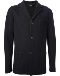 Giorgio Armani Ribbed Knit Jacket - Lyst