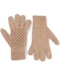 Bottega Veneta Intrecciato Knit Gloves - Lyst