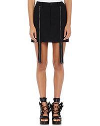 Hood By Air - Layered Twill Miniskirt - Lyst