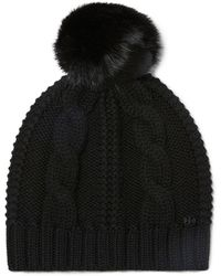 Tory Burch - Large Cable-knit Pom-pom Hat - Lyst