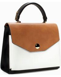 Zara Tricolor Bowling Bag - Lyst