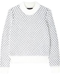 Paul Smith Black Label White Bobble Stitch Jumper - Lyst