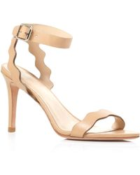 Loeffler Randall Sandals - Amelia Scallop High Heel beige - Lyst
