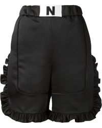 Nicopanda - Ruffled Trim Shorts - Lyst
