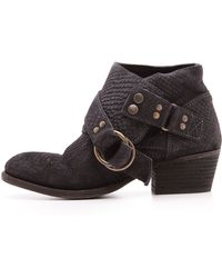 Free People Tortuga Booties Black - Lyst