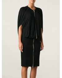Givenchy Draped Zipped Dress - Lyst