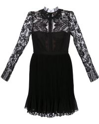 Notte By Marchesa Organza Collar Dress - Lyst