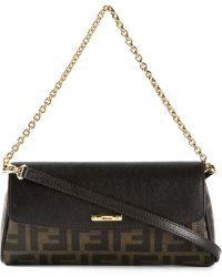 Fendi Logo-detail Leather Shoulder Bag - Lyst