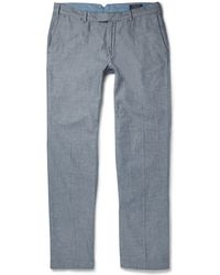 Polo Ralph Lauren Chambray Trousers - Lyst