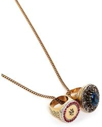 Alexander McQueen | Crystal Cocktail And Signet Ring Necklace | Lyst