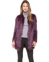 Unreal Fur - Wanderlust Coat - Grey - Lyst