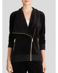 Two By Vince Camuto - Velour Asymmetric Zip Jacket - Lyst