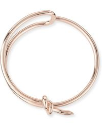 Balenciaga Rose Golden Knot Collar Necklace - Lyst