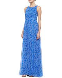 Diane von Furstenberg Riviera Sleeveless Smocked Maxi Dress - Lyst