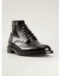 Saint Laurent Black Ankle Boots - Lyst