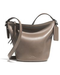 Coach Bleecker Mini Duffle Bag in Glove Tanned Leather - Lyst