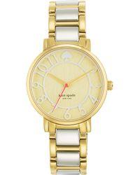 Kate Spade Gramercy Two-Tone Stainless Steel Bracelet Watch silver - Lyst