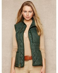Blue Label Diamond-quilted Down Moto Vest - Lyst