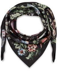 Valentino Black Rome Safari Print Silk Scarf - Lyst