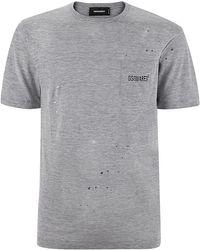 DSquared² Paint Splatter Pocket T-Shirt - Lyst